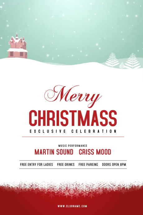 Christmas Celebration Flyer Plakat template
