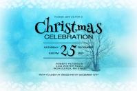 Christmas Celebration Party Invitation ป้าย template