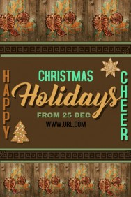 Christmas Celebrations Poster Template,holidays