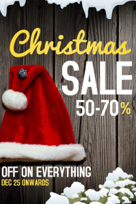 Christmas Celebrations Poster Template,sale templates