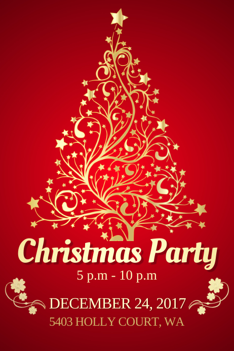 Christmas Celebrations Poster Template