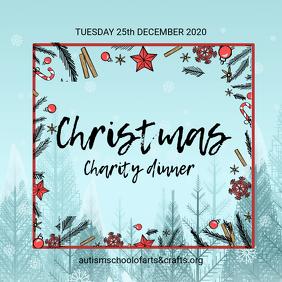 Christmas Charity Dinner Advert
