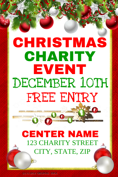 christmas charity event template