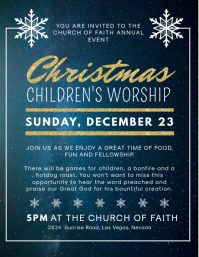Christmas Children's Event Service Invitation