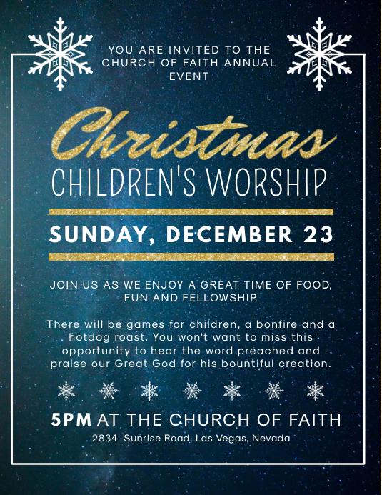 Christmas Children's Event Service Invitation