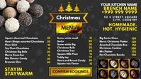 Christmas Chocolate Menu 2020 Template Pagtatanghal (16:9)