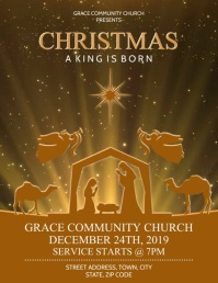 CHRISTMAS CHURCH Flyer (US Letter) template