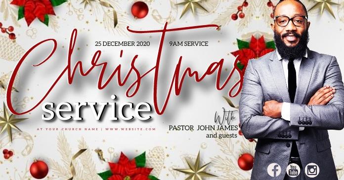 CHRISTMAS Church Event Flyer Template Immagine condivisa di Facebook