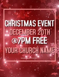 Christmas Church Event Flyer template
