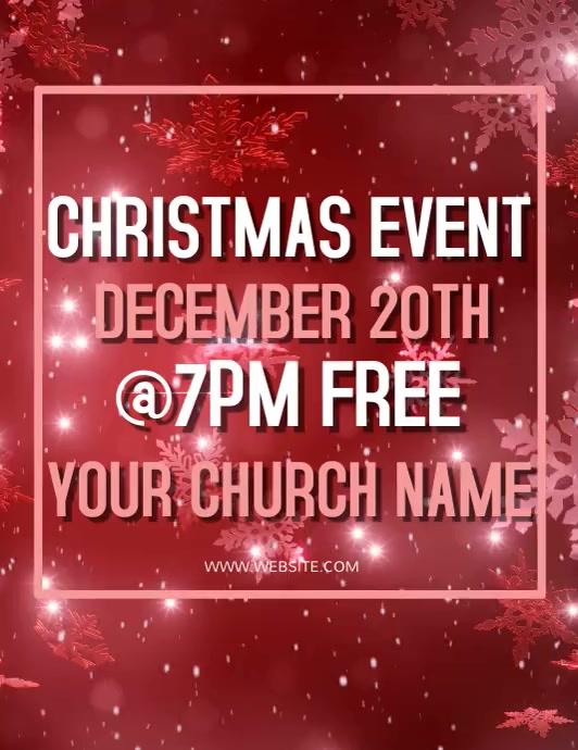 Christmas Church Event Flyer template