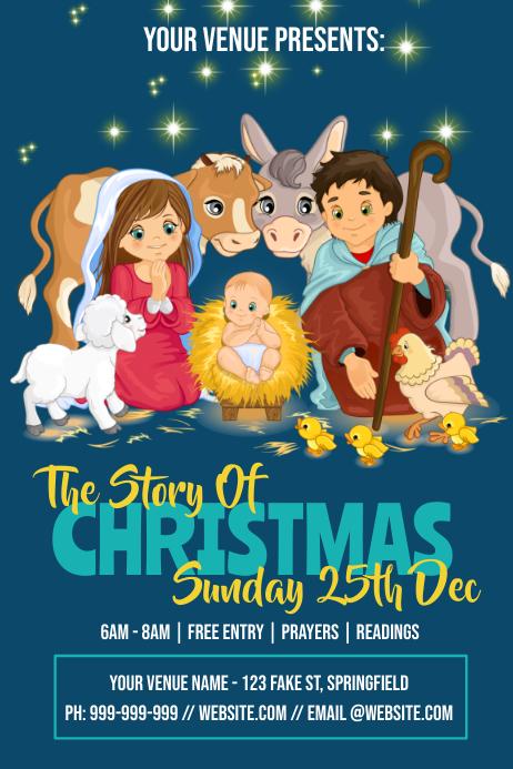 Christmas Church Poster Plakat template