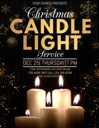 christmas church service, video template Flyer (format US Letter)