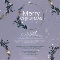 christmas church service ad template สี่เหลี่ยมจัตุรัส (1:1)