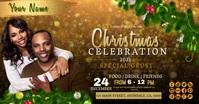 christmas church service ad template Facebook Gedeelde Prent