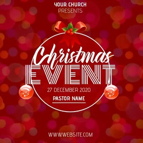christmas church service ad template Cuadrado (1:1)