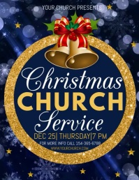 christmas church service video template Flyer (US Letter)