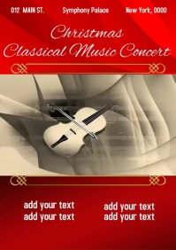 Christmas Classical Music Concert A4 template