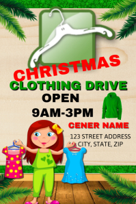 Christmas Clothing Drive  Clothing Drive Flyer Template