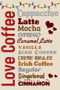 Christmas Coffee Menu