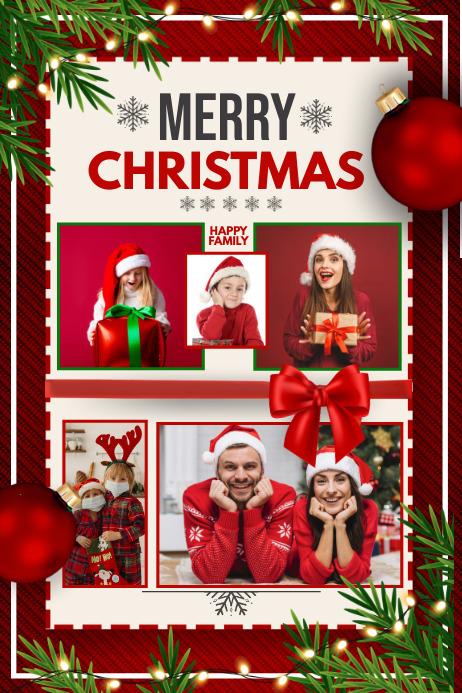 Christmas collage, Christmas Poster template