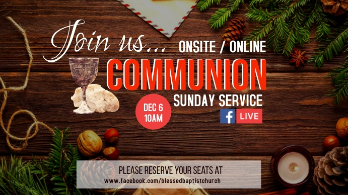 CHRISTMAS Communion Digitalt display (16:9) template