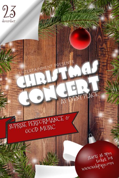 Christmas Concert Flyer Template 3d