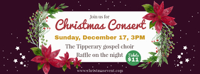 Christmas Concert Choir Facebook Banner template