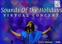 Virtual Christmas Concert Poskaart template