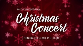 Christmas Concert Digital Display (16:9) template