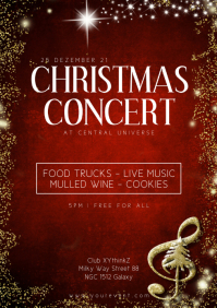 Christmas Concert Event Music Play Show Event A4 template