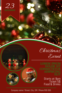 Christmas Concert Fair Event Festival Flyer Template