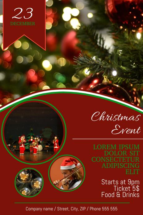 Christmas Concert Fair Event Festival Flyer Template