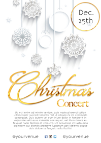 Christmas concert flyer A4 template