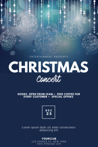 Christmas Concert Flyer Design TEmplate Poster