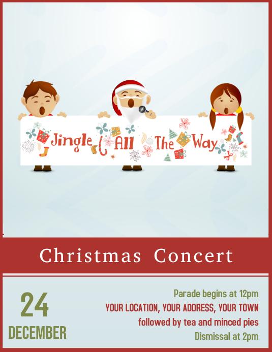 Christmas Concert Flyer poster Template