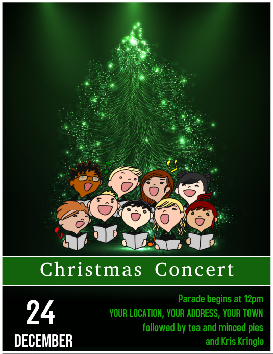 Christmas Concert Flyer Template 1