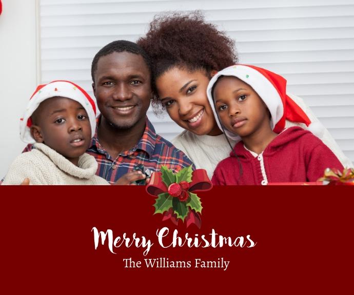 Christmas Card Persegi Panjang Sedang template