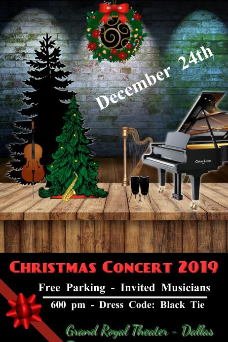 christmas/concert/musical/recital/navidad Poster template