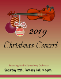 Christmas Concert Poster/ Flyer