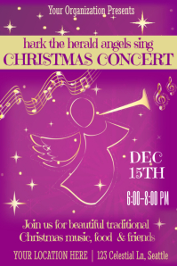 Christmas Concert Poster Template