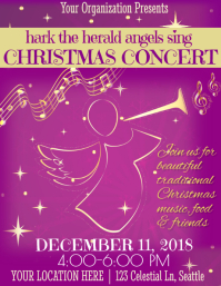 Christmas Concert Template