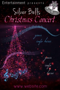 Christmas Concert Video Poster template