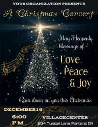 Christmas Concert Video Flyer