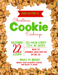 Christmas Cookie Exchange Flyer