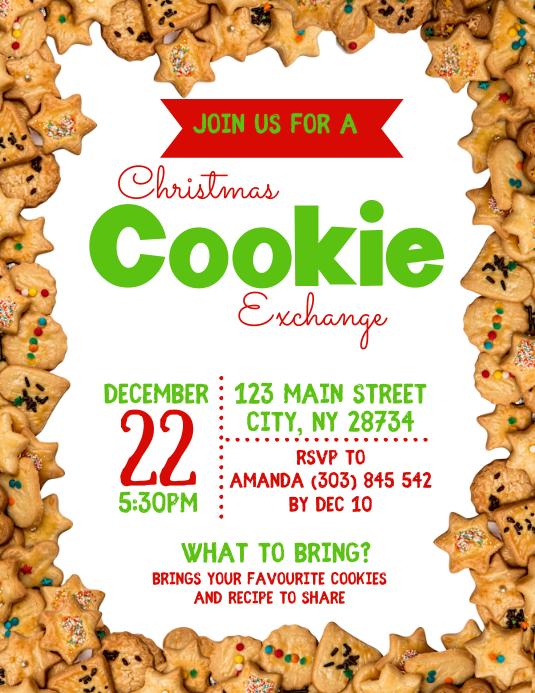 Christmas Cookie Exchange Flyer