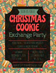 Christmas Cookie Exchange Party Flyer