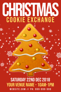 Christmas Cookie Exchange Poster
