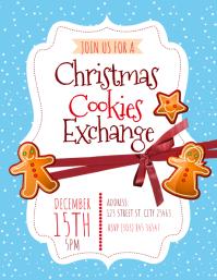 Christmas Cookies Exchange Flyer