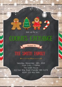 Christmas cookies exchange invitation