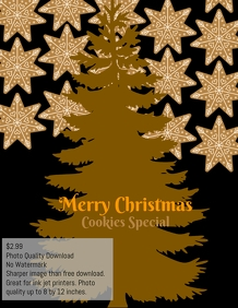 Christmas cookies templates